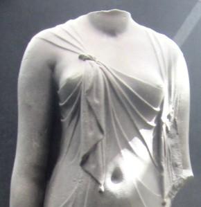 cleo exhibit statue lady in drapery