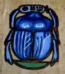 blue scarab
