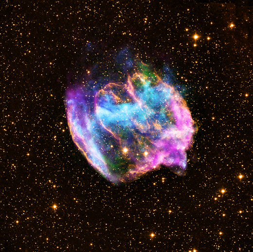 bright color nebula