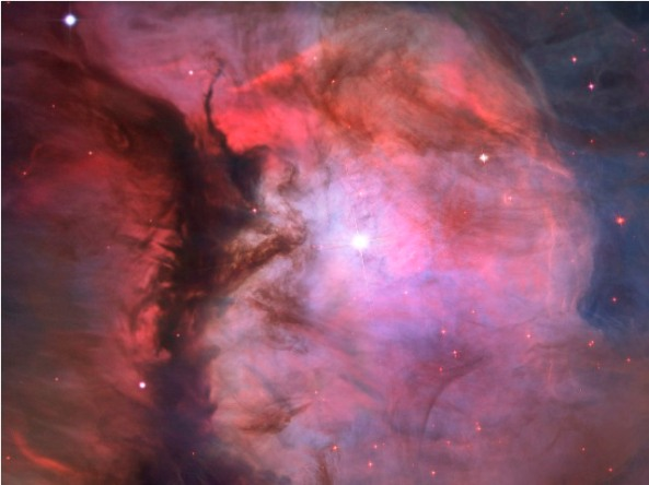 pink hubble image