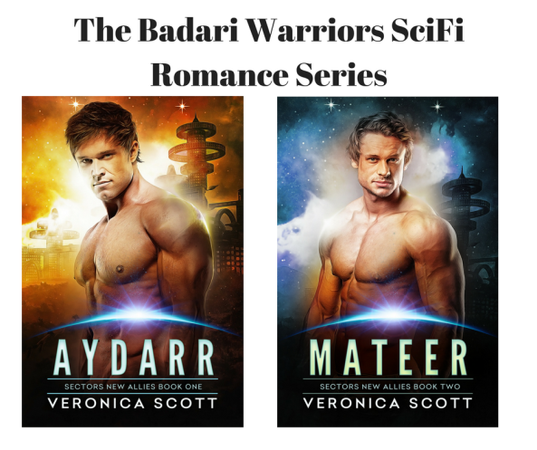The Badari Warriors SciFi Romance Series canva both covers