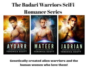 The Badari Warriors SciFi Romance Series canva