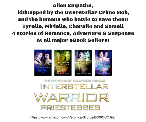 canva alien warrior priestesses ad
