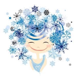 Winter female portrait for your design