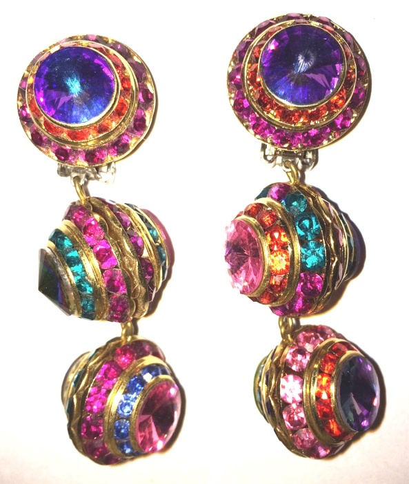 round ball holiday bling earings alt1