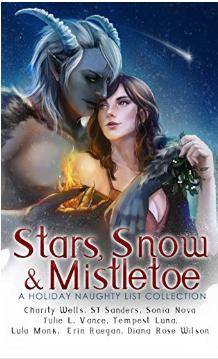 stars snow and mistletoe